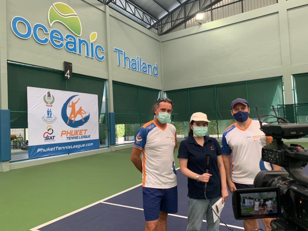 Phuket Tennis League in Thai PBS World Startup Series